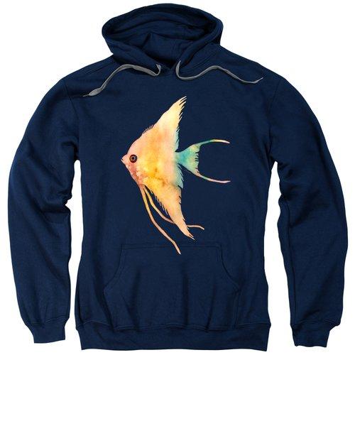 Angelfish II - Solid Background Sweatshirt by Hailey E Herrera