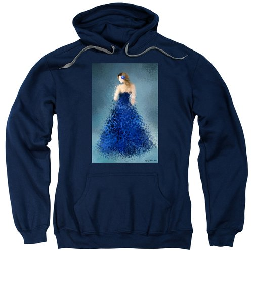 Sweatshirt featuring the digital art Angelica by Nancy Levan