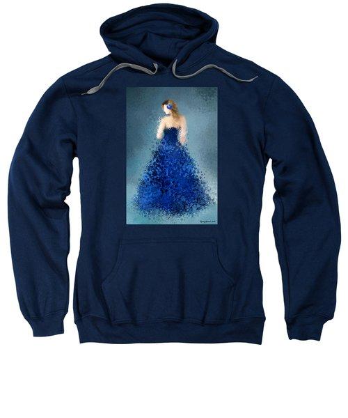 Sweatshirt featuring the digital art Angelica by Nancy Levan