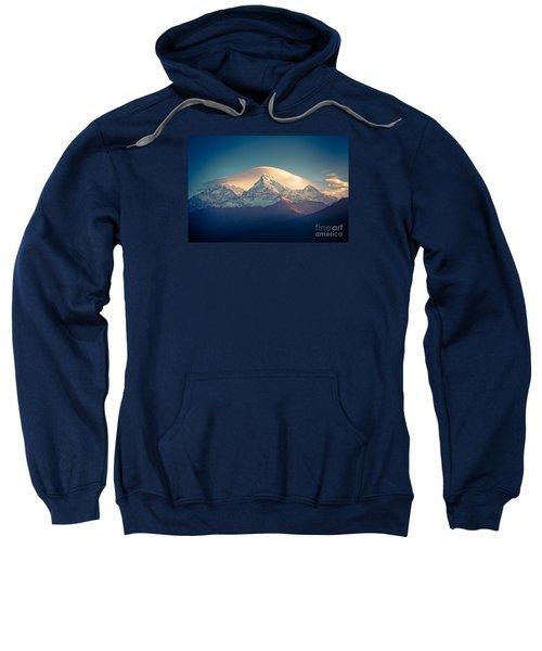 Annapurna Sunrise Himalayas Mountain Artmif Sweatshirt
