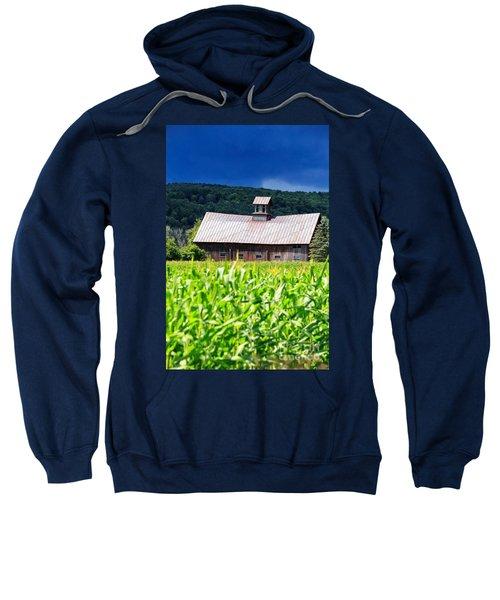 Approaching Storm Vermont Barn Sweatshirt