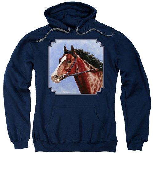 Horse Painting - Determination Sweatshirt by Crista Forest