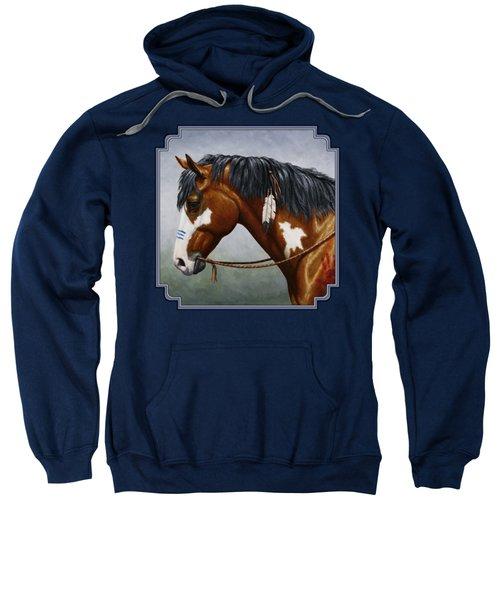 Bay Native American War Horse Sweatshirt
