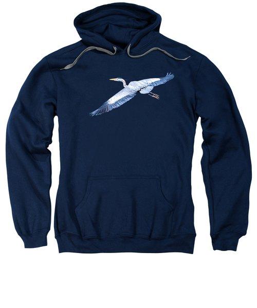 Great Blue Heron Flight Sweatshirt