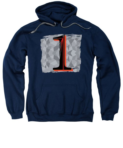 Number 1 One Sweatshirt by Liesl Marelli