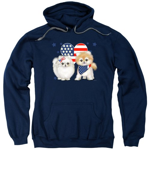 Patriotic Pomeranians Sweatshirt