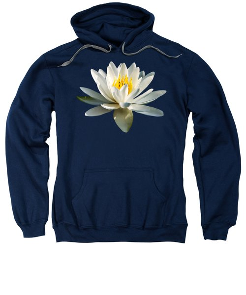 Sweatshirt featuring the photograph White Water Lily by Christina Rollo