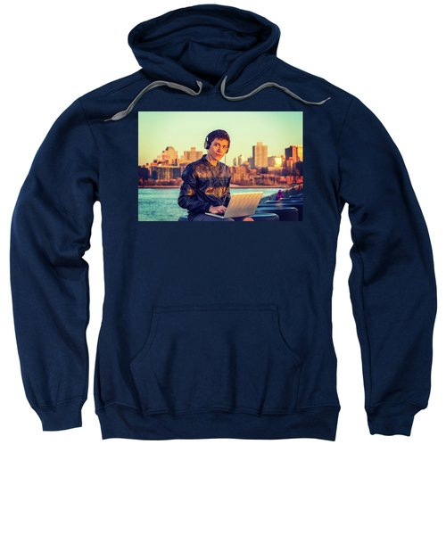 Asian American College Student Traveling, Studying In New York Sweatshirt