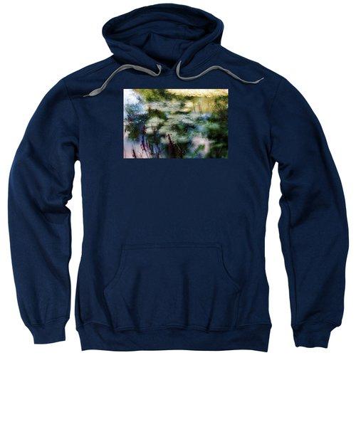Sweatshirt featuring the photograph At Claude Monet's Water Garden 2 by Dubi Roman