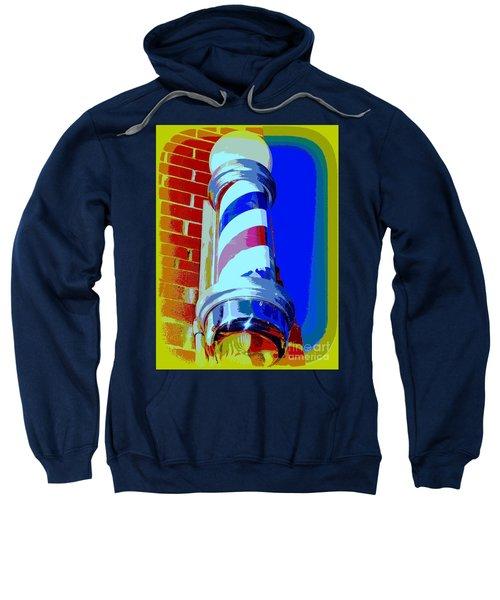 Barber Shoppe Pole Sweatshirt
