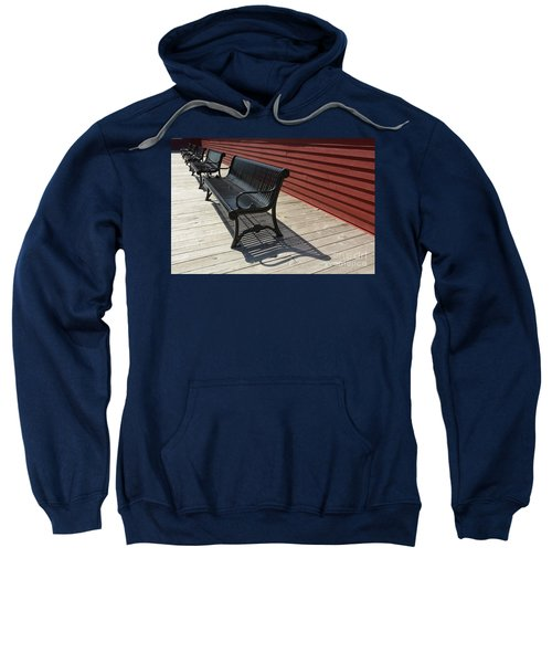 Bench Lines And Shadows 0841 Sweatshirt