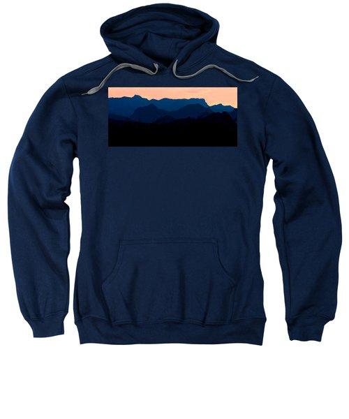 Big Bend Orange Blue Layers Sweatshirt