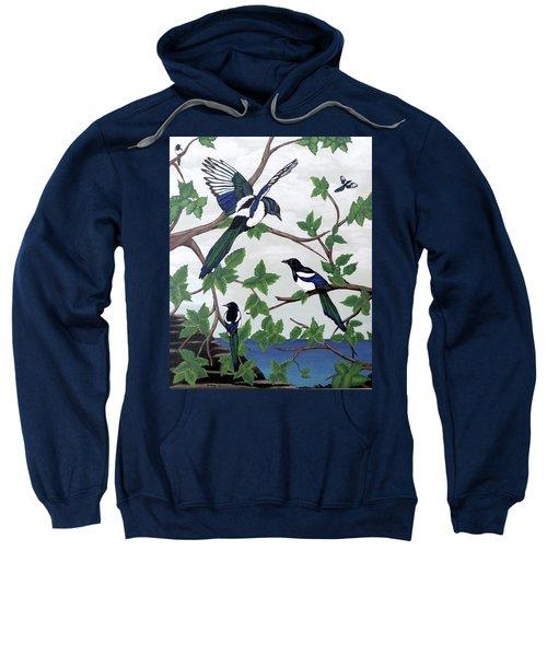 Black Billed Magpies Sweatshirt