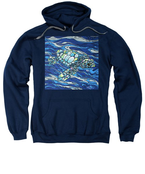 Black Contour Turtle Sweatshirt
