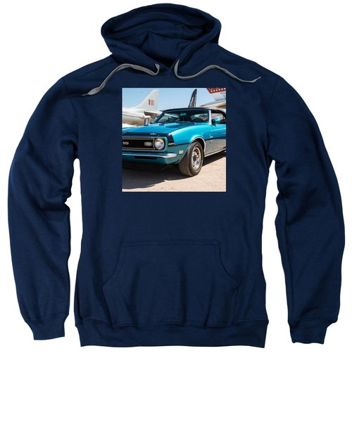 Blue 350 Chevy Camaro Ss Sweatshirt
