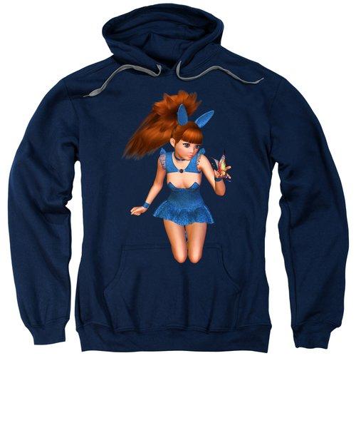 Blue Bunny Butterfly Sweatshirt