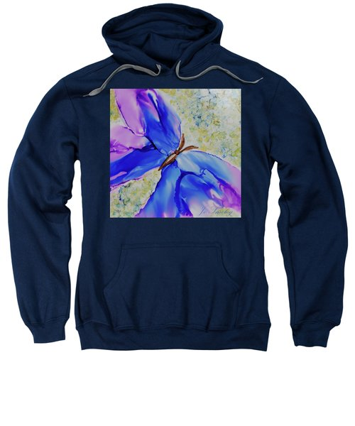 Blue Butterfly Sweatshirt