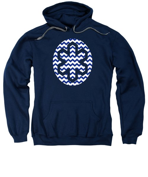 Blue Chevron Pattern Sweatshirt