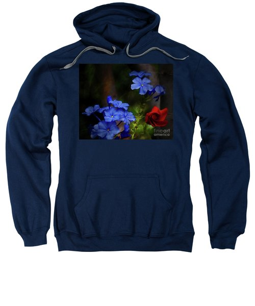 Blue Flowers Growing Up The Apple Tree Sweatshirt