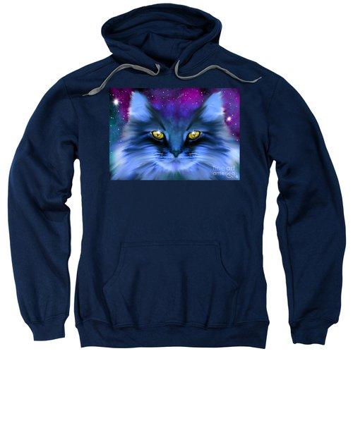 Blue Ghost Cat Sweatshirt