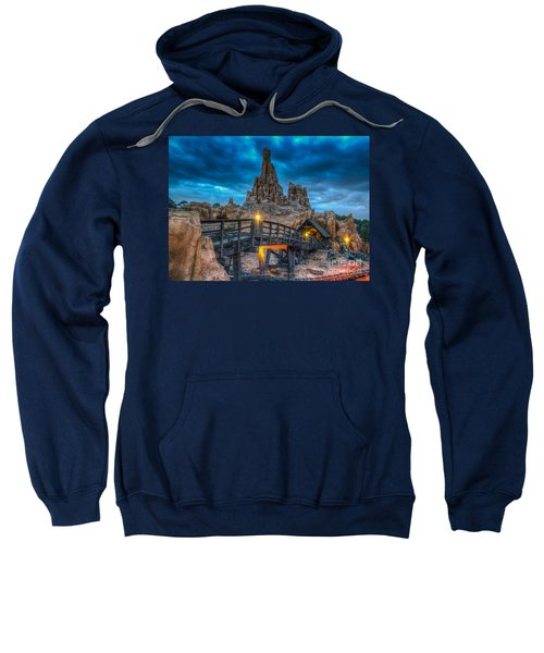 Blue Hour Over Big Thunder Mountain Sweatshirt