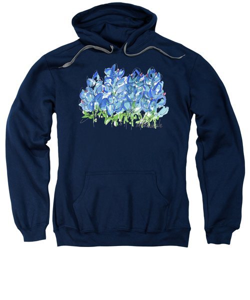 Bluebonnet Dance Watercolor By Kmcelwaine Sweatshirt
