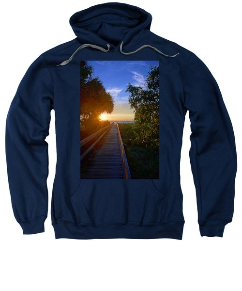 Sunset At The End Of The Boardwalk Sweatshirt