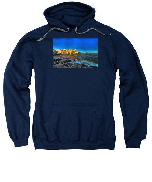 Boccadasse Beach On An Autumn Bright Sunny Day Sweatshirt