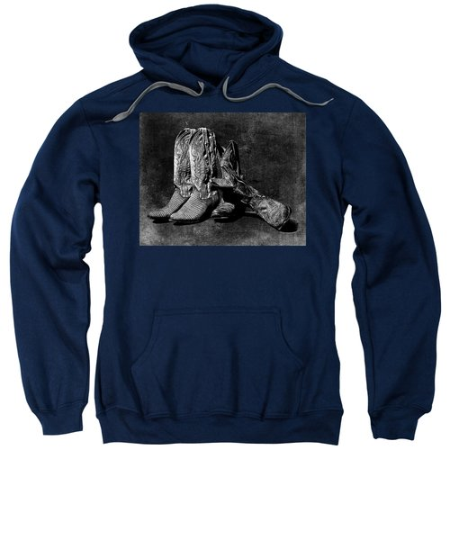 Boot Friends - Art Bw Sweatshirt