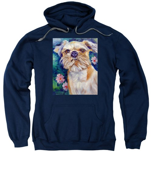 Brussels Griffon Sweatshirt by Lyn Cook