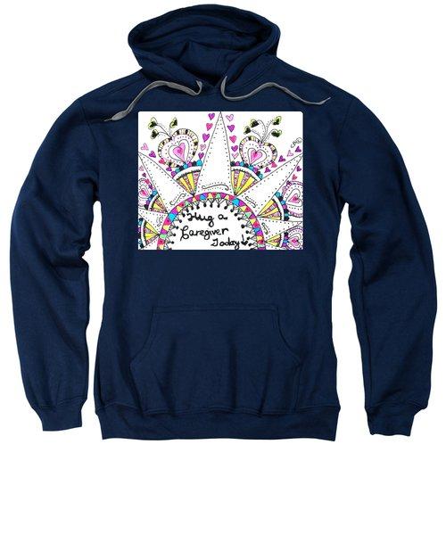Caregiver Crown Of Hearts Sweatshirt