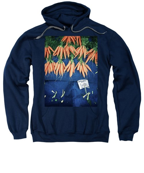 Carrots At The Market Sweatshirt by Tom Gowanlock