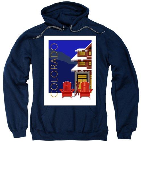 Sweatshirt featuring the digital art Colorado Chairs by Sam Brennan