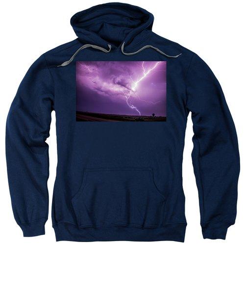 Chasing Nebraska Lightning 018 Sweatshirt