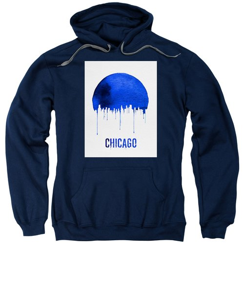 Chicago Skyline Blue Sweatshirt by Naxart Studio