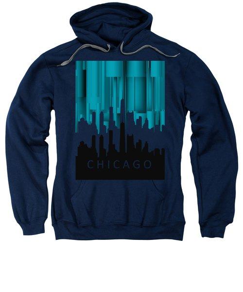 Chicago Turqoise Vertical In Negetive Sweatshirt