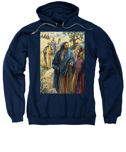 Christ With His Disciples Sweatshirt
