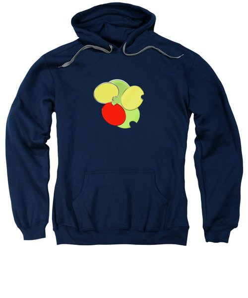 Circles Of Red, Yellow And Green Sweatshirt