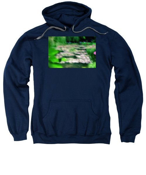 Sweatshirt featuring the photograph Claude Monets Water Garden Giverny 1 by Dubi Roman