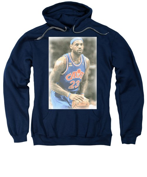 Cleveland Cavaliers Lebron James 1 Sweatshirt by Joe Hamilton