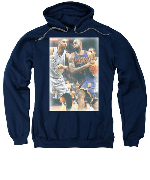 Cleveland Cavaliers Lebron James 4 Sweatshirt by Joe Hamilton