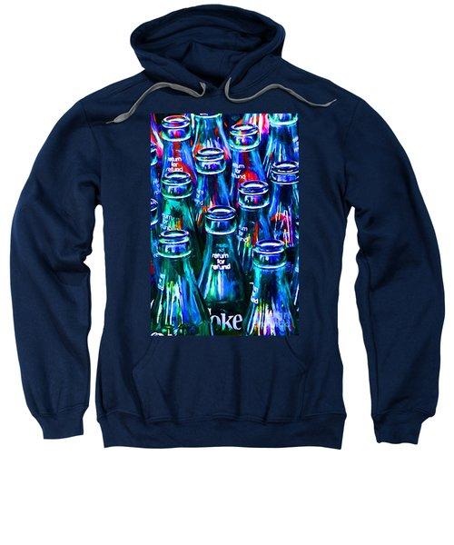Coca-cola Coke Bottles - Return For Refund - Painterly - Blue Sweatshirt