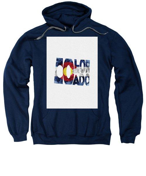 Colorado Typographic Map Flag Sweatshirt