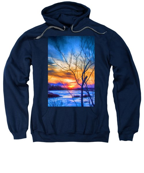 Colorful Cold Sunset Sweatshirt