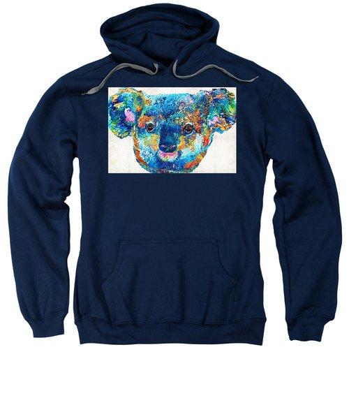 Colorful Koala Bear Art By Sharon Cummings Sweatshirt by Sharon Cummings