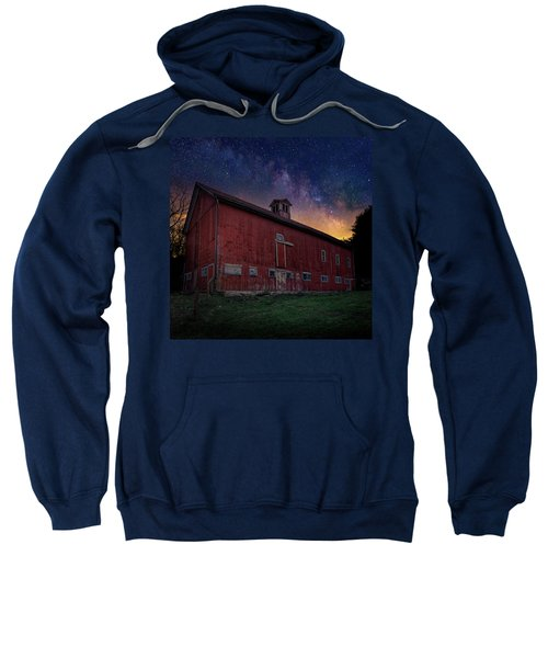 Sweatshirt featuring the photograph Cosmic Barn Square by Bill Wakeley