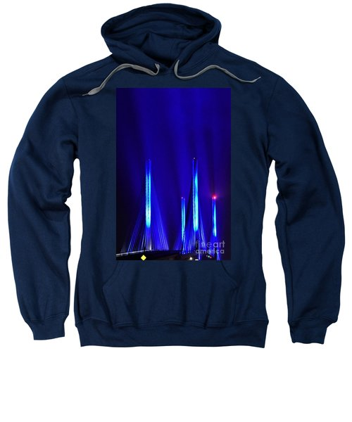 Blue Light Rays - Indian River Inlet Bridge Sweatshirt