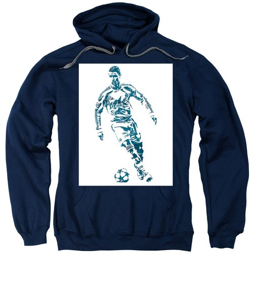 Cristiano Ronaldo Real Madrid Pixel Art 1 Sweatshirt