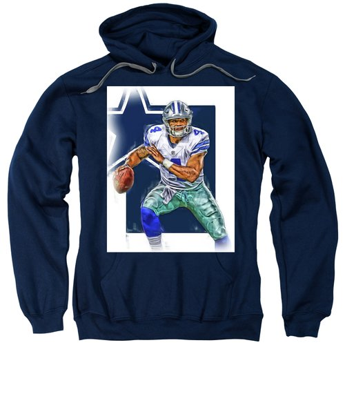 Dak Prescott Dallas Cowboys Oil Art Sweatshirt