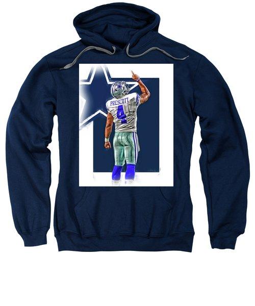 Dak Prescott Dallas Cowboys Oil Art Series 2 Sweatshirt